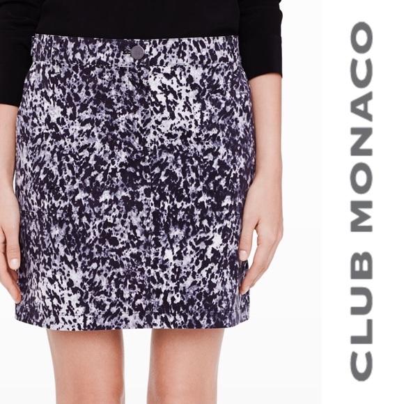 c43c60d7c15 CLUB MONACO Skirt Mini black gray white Sz 00